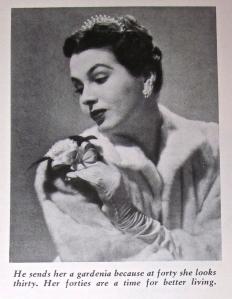 Woman with gardenia