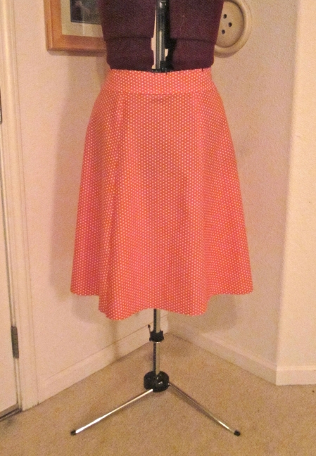 Polka dot skirt in progress