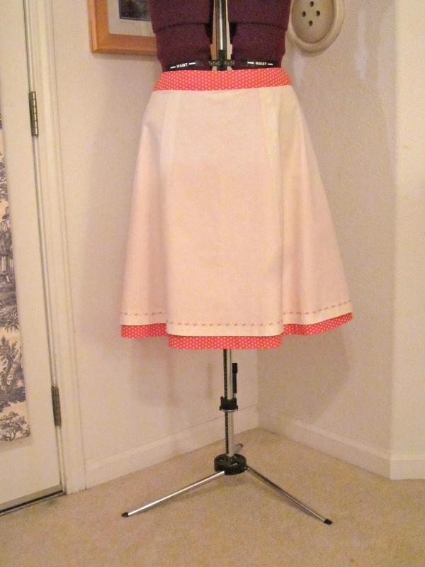 The polka dot skirt inside