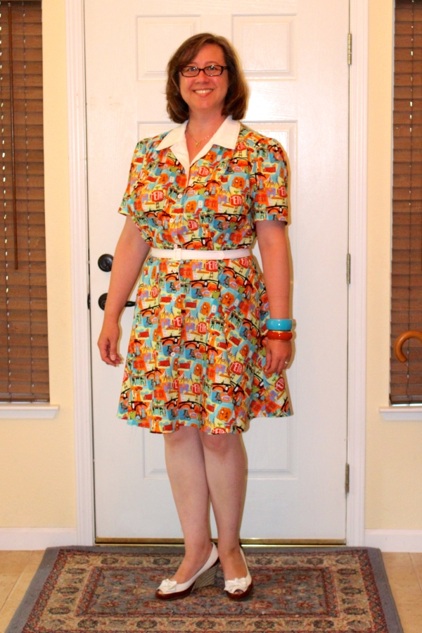 As promised to Melissa, here I am in the dress. Photo by Maddie.