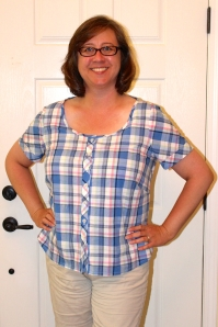 If the plaid across the bodice looks like it is matching the sleeve, I assure you, that is entirely accidental. Photo by Maddie.