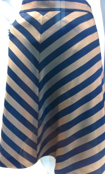 Even my daughter asked how this stripe could match so well at the top but not at the bottom.