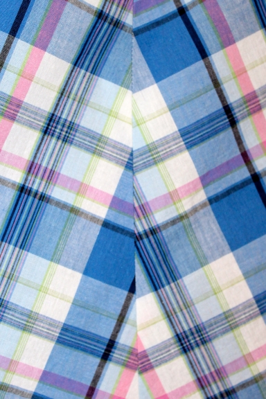 The plaid is matched only at the horizontal lines. Oops.