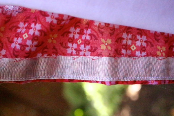 I sewed the fashion fabric hem and the lining hem by hand.