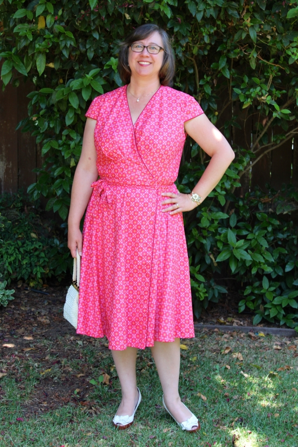 My new wrap dress! Photo by Robert the Husband.