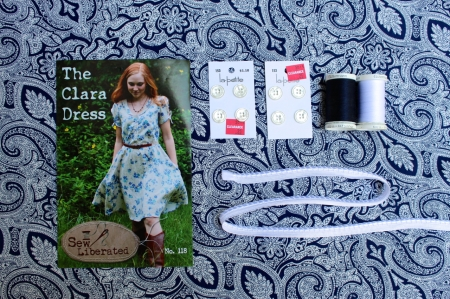 Mood board for Sew Liberated Clara dress.