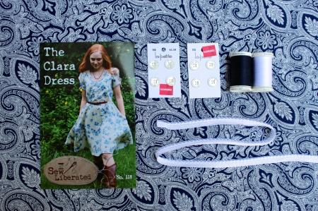 Mood board for Sew Liberated Clara dress.