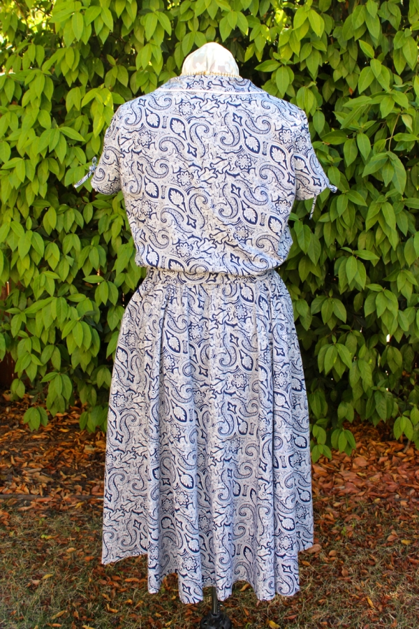 Sew Liberated's Clara shirtdress from the back.