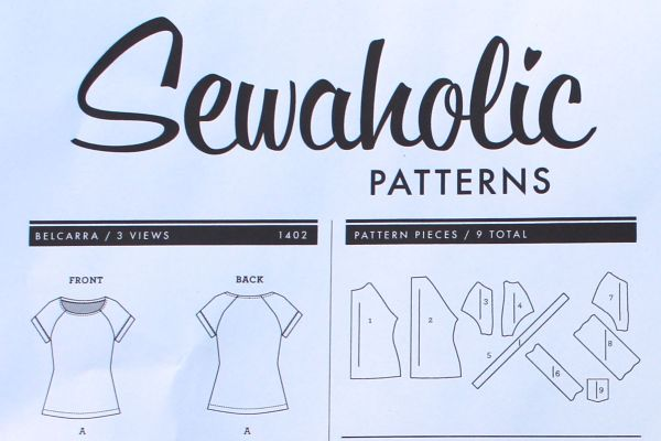 Here's a closeup of the line drawing for the Belcarra Blouse.