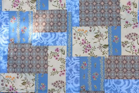 Patchwork from Mood Fabrics, 50 inches wide.