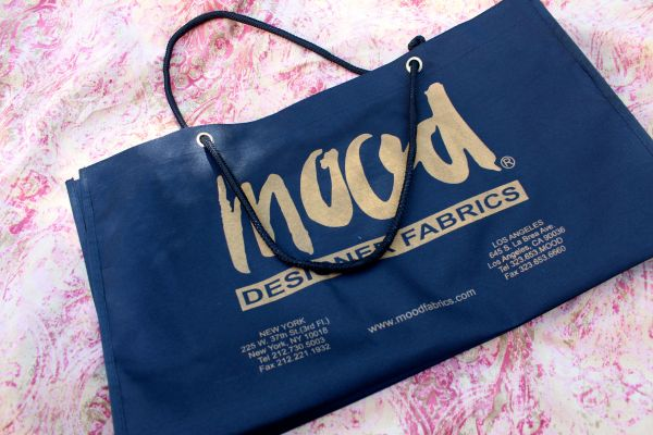 Mood Fabrics shopping bag