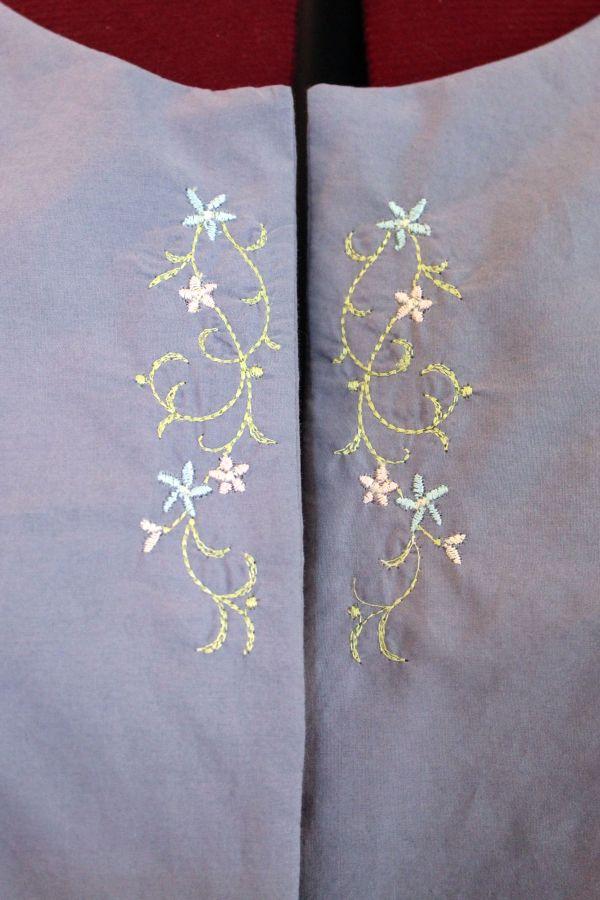 I finally tried using my embroidery machine on a garment.