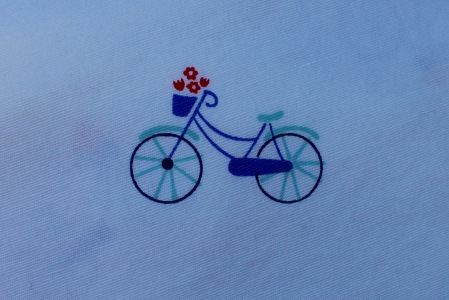 How cute is this bicycle print?